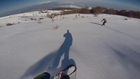Freeride Ski at Kissavos Mοuntain