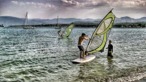 Windsurf in Corinth