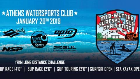 Athens Watersports‎Mid Winter SUP & Surfski Challenge 2019