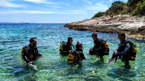 Athens Blue Dream scuba dive athens