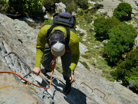 Via Ferrata Climbing & Rappel Andros Greece αναρριχηση (1)