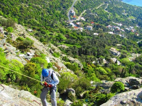 Via Ferrata Climbing & Rappel Andros Greece  (8)