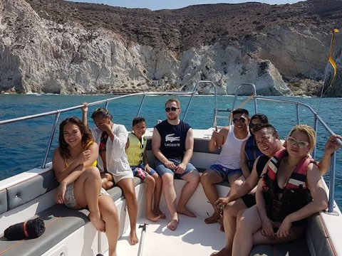inflatable boat trip santorini greece