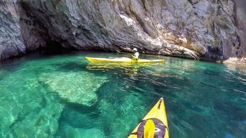 Sea Kayak Tour Lefkada: The Hidden Blue Cave