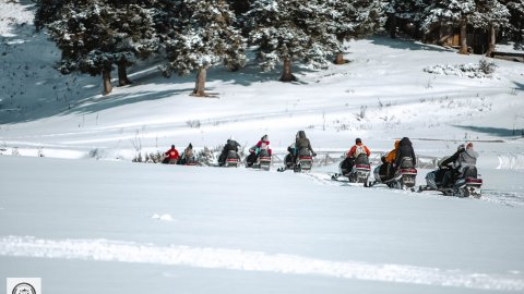 Snowmobile pertouli Greece extreme