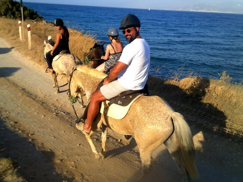 Horse Riding Tour Paros Kokou Greece ιππασια αλογα sunset.jpg12