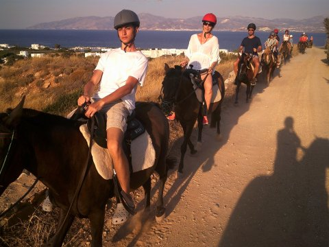 Horse Riding Tour Paros Kokou Greece ιππασια αλογα sunset.jpg5