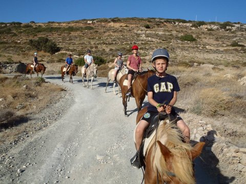 Horse Riding Tour Paros Kokou Greece ιππασια αλογα sunset