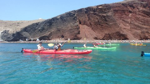 Santorini Sea Kayak Half Day Tour