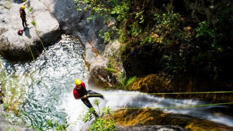 Canyoning at Orlia Gorge, Olympus