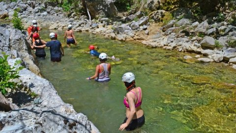 River Trekking Bolovinena Canyon, North Evia
