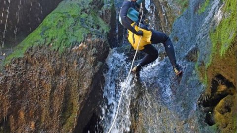 Canyoning at Havos Gorge, Evia