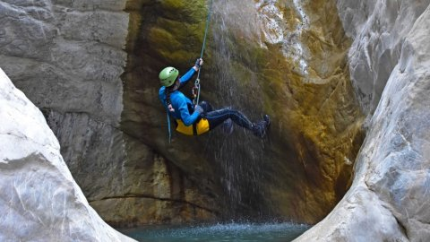 Canyoning in Manikia (Central Evia)